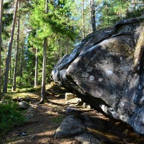 Bouldering in Dye, Värmland,Sweden
